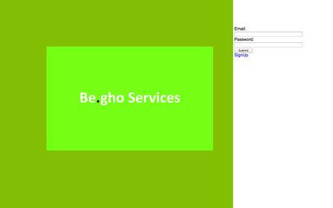 Screenshot of Login Page begho.com captured Oct. 5, 2014