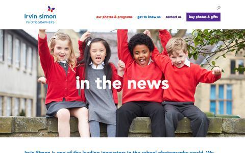 Screenshot of Press Page irvinsimon.com - In the News | Irvin Simon - captured Sept. 25, 2018