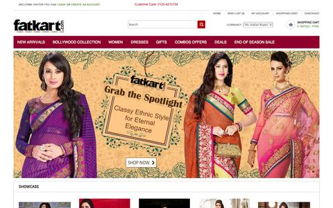 Screenshot of Home Page fatkart.com - Online Clothes Shopping India   Online Shopping Sites   Online Women Clothes Shopping Sites - captured Sept. 19, 2014