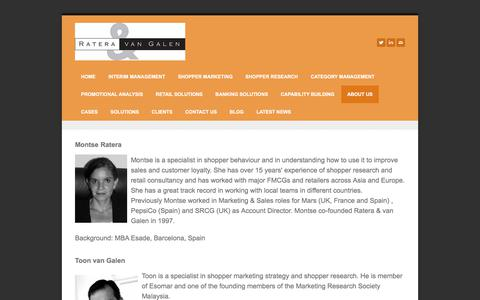 Screenshot of About Page rateravangalen.com - about us - Shopper Research and Shopper Marketing Experts - captured Nov. 5, 2017