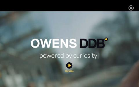 Screenshot of Home Page Privacy Page owensddb.com - Owens DDB - Creative Advertising Agency Dublin - captured Oct. 13, 2017