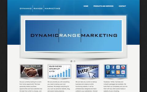 Screenshot of Home Page dynamicrange.net - Dynamic Range Marketing - captured Sept. 30, 2014