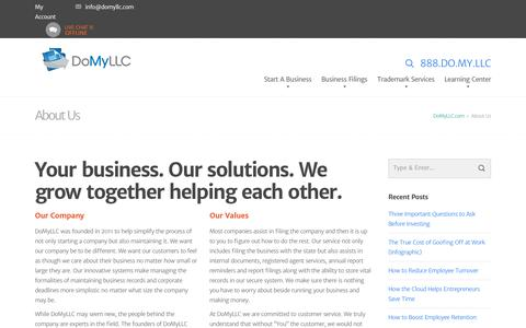Screenshot of About Page domyllc.com - About Us | DoMyLLC - captured Nov. 24, 2016