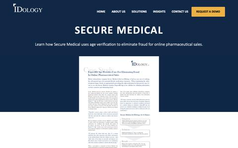 Screenshot of Case Studies Page idology.com - Secure Medical | IDology - captured Feb. 15, 2019