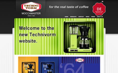 Screenshot of Home Page technivorm.com - English - Technivorm - captured Feb. 7, 2016