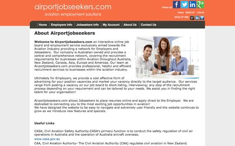 Screenshot of About Page airportjobseekers.com - airportjobseekers.com: About Us - captured Oct. 4, 2014