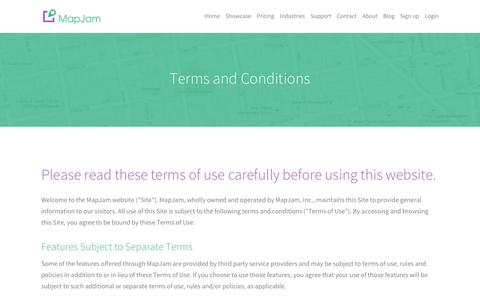 MapJam | Terms and Conditions