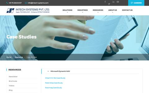Screenshot of Case Studies Page intech-systems.com - Case Studies - Intech Systems Pvt. Ltd - captured June 7, 2017