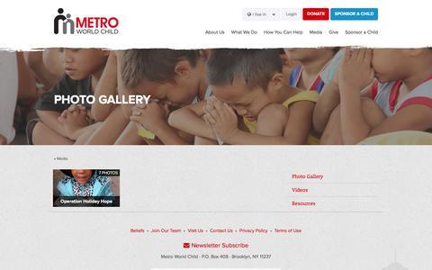 Screenshot of Press Page metroworldchild.sg - Photo Gallery · Metro World Child - captured March 6, 2016