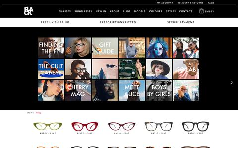 Screenshot of Blog blackeyewear.com - Blog | Black Eyewear - captured June 1, 2017