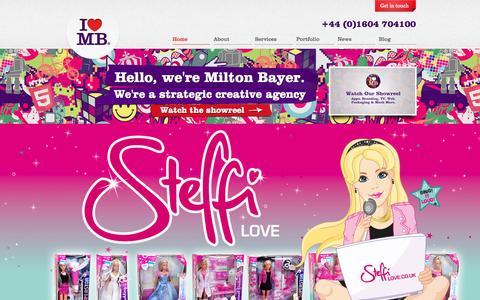 Screenshot of Home Page miltonbayer.com - Creative Agency Northampton | Marketing Agency | Digital Agency | Integrated Agency | UK - captured Sept. 25, 2014