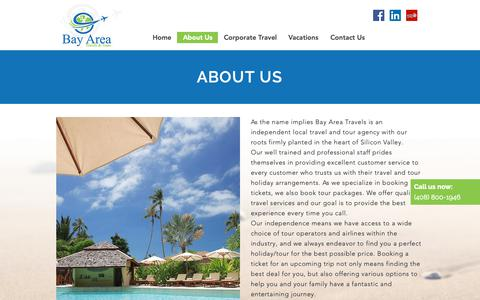 Screenshot of About Page bayareatravels.net - About Us | Bay Area Travels - captured Oct. 5, 2018