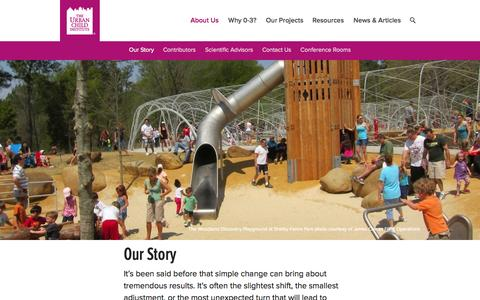 Screenshot of About Page urbanchildinstitute.org - Our Story | Urban Child Institute - captured Oct. 6, 2014