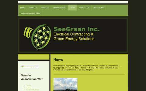 Screenshot of Press Page seegreen-inc.com - News - SeeGreen Inc. - captured Sept. 30, 2014