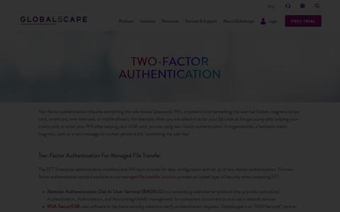 Two-Factor Authentication | Globalscape