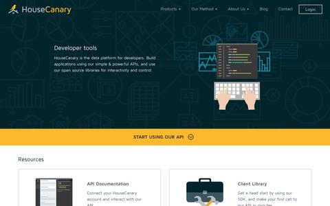 Screenshot of Developers Page housecanary.com - Developers - captured Nov. 13, 2016