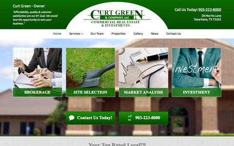Screenshot of Home Page curtgreen.com - Curt Green & Company - captured Oct. 3, 2014