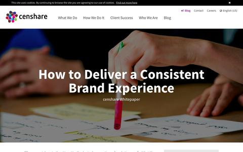 How to Deliver a Consistent Brand Experience - Whitepaper