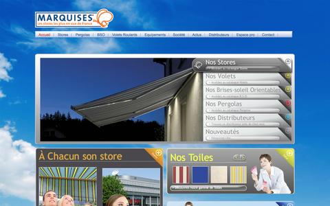 Screenshot of Home Page stores-marquises.fr - Stores Marquises - captured Jan. 26, 2015