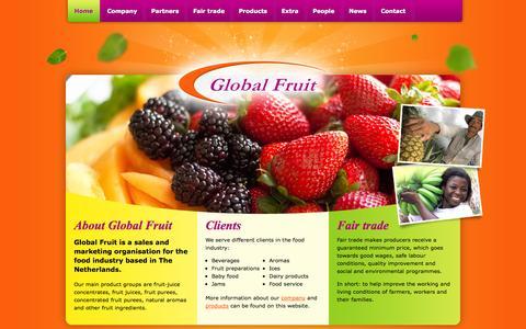 Screenshot of Home Page global-fruit.nl - Home - Global Fruit B.V. - captured Sept. 30, 2014