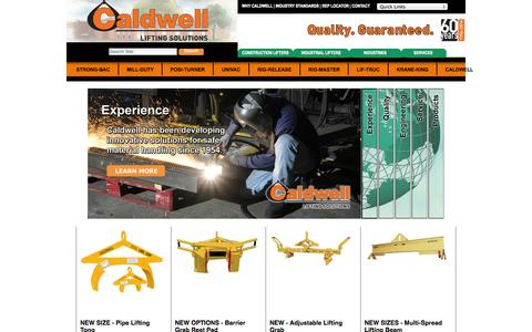 Screenshot of Home Page caldwellinc.com - The Caldwell Group — Caldwell Group Lifting Solutions - captured Oct. 6, 2014