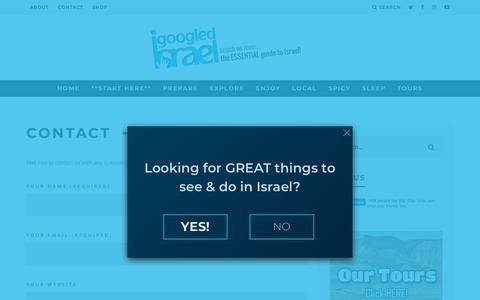 Screenshot of Contact Page igoogledisrael.com - Contact - captured July 13, 2018