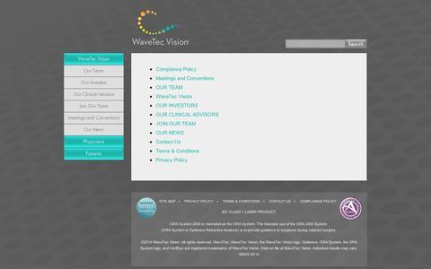 Screenshot of Site Map Page wavetecvision.com - Site Map « - captured Sept. 10, 2014