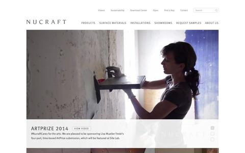 Screenshot of Home Page nucraft.com - Welcome to Nucraft Furniture - captured Oct. 7, 2014