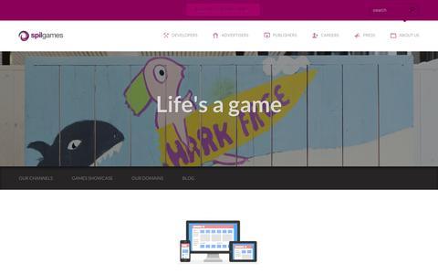 Screenshot of About Page spilgames.com - We love what we do - Spil Games - captured Sept. 11, 2014