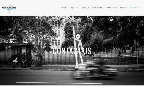 Screenshot of Contact Page evacuteer.org - CONTACT US — Evacuteer - captured Sept. 30, 2018