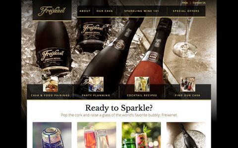 Screenshot of Home Page freixenetusa.com - Freixenet Cava from Spain - captured Sept. 30, 2014