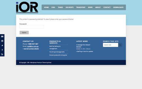Screenshot of FAQ Page ior.com.au - Coming soon - IOR - captured Nov. 2, 2014