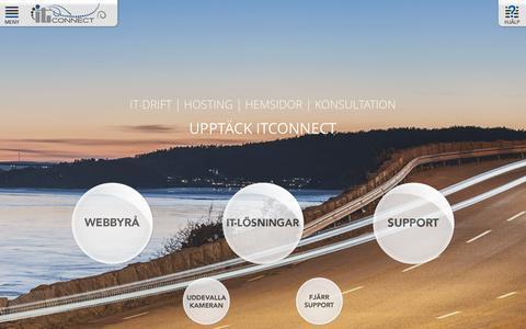 Screenshot of Home Page itconnect.se - ITConnect Uddevalla - drift, hosting, fiber, hemsidor & reklam - captured Jan. 31, 2016