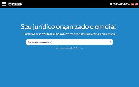Screenshot of Home Page projuris.com.br - Software Jurídico ProJuris - para advogados e departamentos jurídicos - captured May 22, 2017