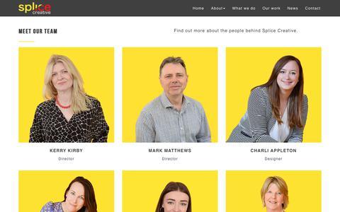 Screenshot of Team Page splicecreative.co.uk - Meet the Splice Creative team | Marketing agency, Norfolk - captured Oct. 20, 2018