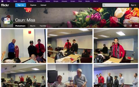 Screenshot of Flickr Page flickr.com - Flickr: Csun: Misa's Photostream - captured Oct. 23, 2014