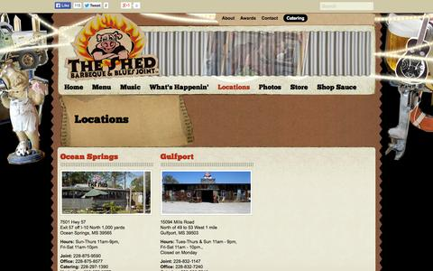 Screenshot of Locations Page theshedbbq.com - Locations - The Shed Barbeque & Blues Joint - captured Oct. 9, 2014