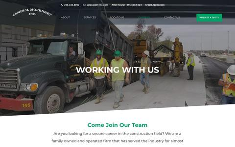 Screenshot of Jobs Page jdm-inc.com - Working With Us - JDM INC. - captured Oct. 13, 2018
