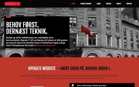 Screenshot of Home Page operateit.dk - Operate IT | Drupal hjemmeside og intranet til organisationer, tænketanke og videncentre - captured Oct. 9, 2014