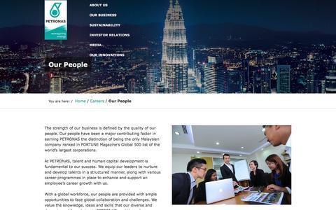 Screenshot of Team Page petronas.com.my - Our People  | PETRONAS - captured Oct. 18, 2016