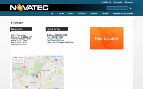 Screenshot of Contact Page novatec.com - Contact   Novatec - captured July 5, 2017