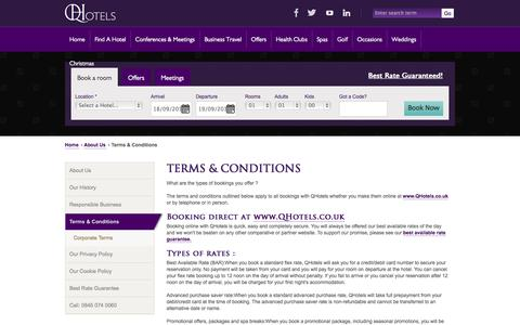 Screenshot of Terms Page qhotels.co.uk - Our terms and conditions - QHotels - captured Sept. 19, 2014