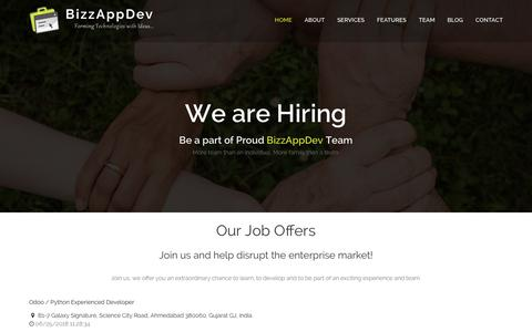 Screenshot of Jobs Page bizzappdev.com - Jobs                             |                                                  Business Solution, Odoo Implementation, Odoo Development - BizzAppDev - captured Aug. 2, 2018