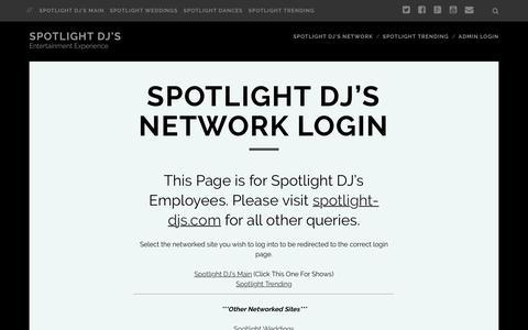 Screenshot of Login Page spotlight-djs.com - Spotlight DJ's Network Login   Spotlight DJ's - captured Feb. 27, 2016