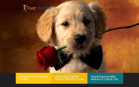 Screenshot of Home Page trusthuman.org - TRUST HUMAN - captured Jan. 26, 2015