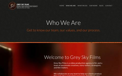 Screenshot of About Page greyskyfilms.com - Video Production Agency | NJ & NY - captured Dec. 13, 2015