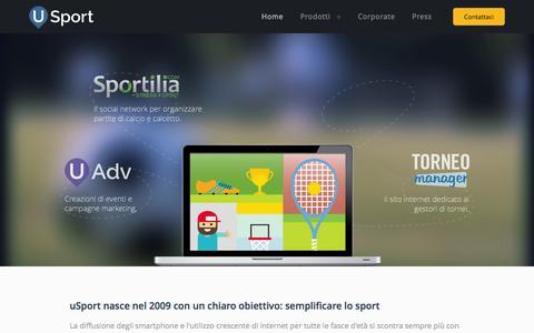 Screenshot of Home Page usport.it - uSport - la tecnologia al servizio dello sport - captured Jan. 23, 2015