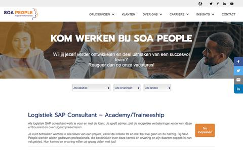 Screenshot of Jobs Page soapeople.com - Vacatures - captured July 17, 2018
