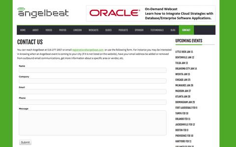 Screenshot of Contact Page angelbeat.com - Angelbeat |        Contact Us - captured Dec. 25, 2015