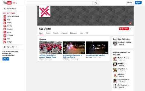 Screenshot of YouTube Page youtube.com - eXo Digital  - YouTube - captured Oct. 23, 2014